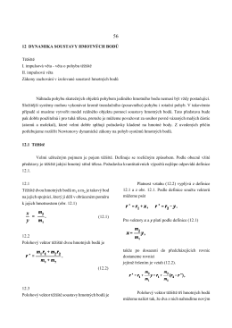 12.Dynamika systému hmotných bodů