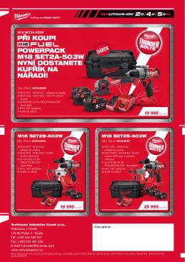 při koupi powerpack m18 set2a-503w nyní dostanete kufřík na nářadí!