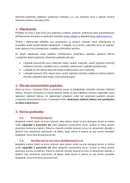 otevřené kurzy a testování ECDL