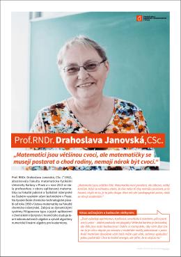 Prof. RNDr. Drahoslava Janovská, CSc.