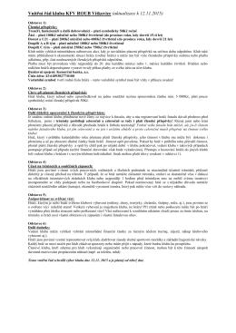 Vnitřní řád klubu KFV ROUB Vítkovice (návrh k 7