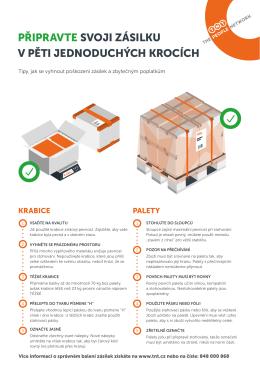 připravte svoji zásilku v pěti jednoduchých krocích