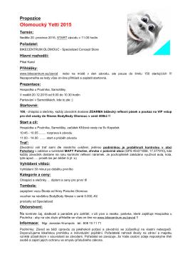 Propozice Olomoucký Yetti 2015