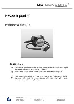 česky - BD SENSORS
