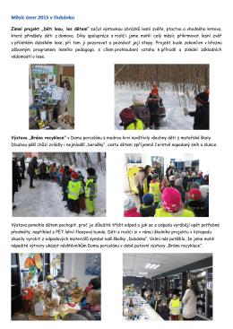 """Zimní projekt """"Děti lesu, les dětem"""" začal výstavkou obrázků lesní"""