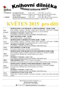 KVĚTEN 2015 pro děti