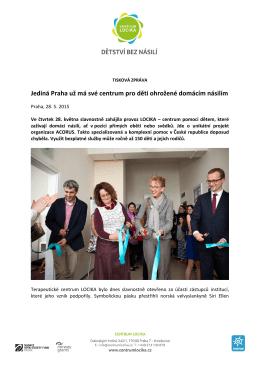 Jediná Praha už má své centrum pro děti