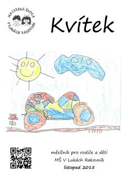měsíčník pro rodiče a děti MŠ V Lukách Rakovník listopad 2015
