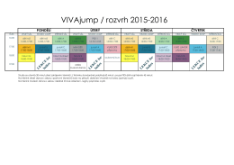 VIVAjump / rozvrh 2015-2016