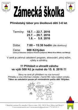 Příměstský tábor pro školkové děti 3