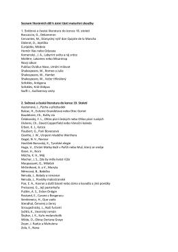 Seznam literárních děl k ústní části maturitní zkoušky Boccaccio, G