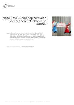 Naše Kaše: Workshop zdravého vaření aneb Děti