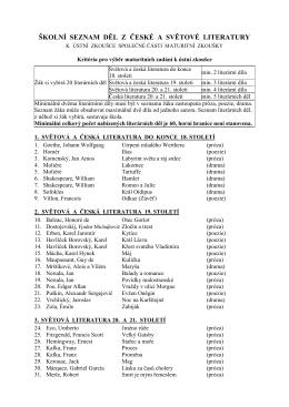 seznam děl cjl 16