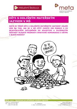 Děti s odlišným mateřským jazykem v MŠ-metodika