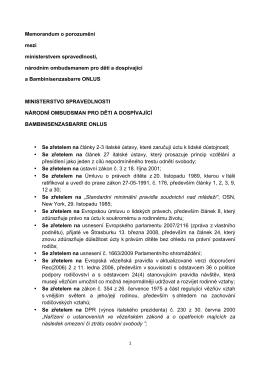 Memorandum o porozumění mezi ministerstvem spravedlnosti