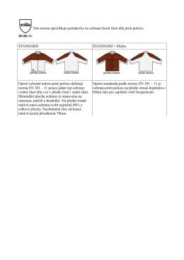 Tato norma specifikuje požadavky na ochranu horní části těla proti