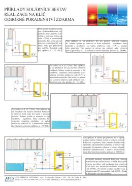 příklady solárních sestav realizace na klíč odborné