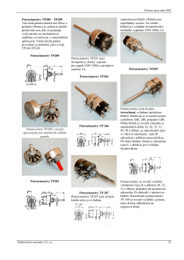 Potenciometry TP280 – TP289 Tato řada