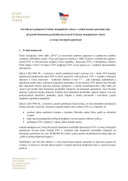 Pravidla pro spolupráci Českého olympijského výboru s vyššími
