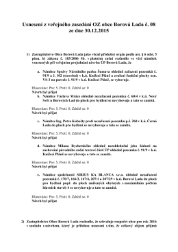 Usnesení OZ ze dne 30.12.2015