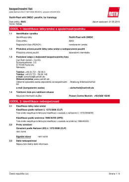 Bezpečnostní list: Roti®-Plast with DMSO