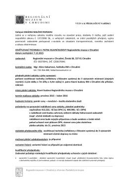 Veřejná zakázka RM v Chrudimi
