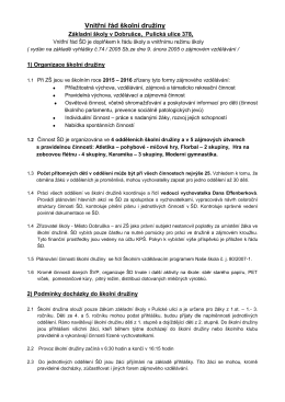 Vnitřní řád školní družiny v *pdf - ZŠ Pulická