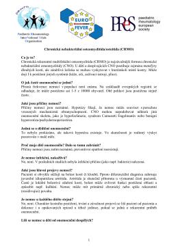 1 Chronická nebakteriální osteomyelitida/osteitida (CRMO)