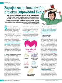 Zapojte se do inovativního projektu Odpovědná škola