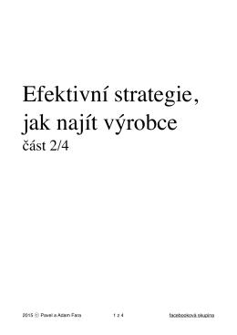 Efektivní strategie, jak najít výrobce