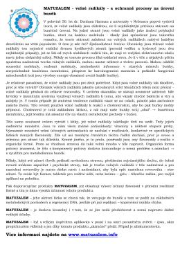 Více informací najdete na www.matuzalem.info