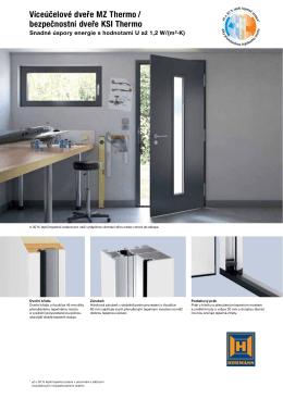 Víceúčelové dveře MZ Thermo / bezpečnostní dveře KSI