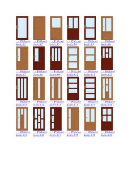 Příčkové dveře