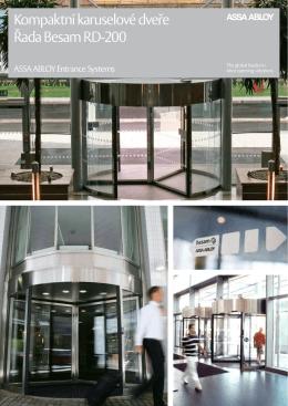 Brožura produktu Otočné dveře Besam Compact(, 469 kB)