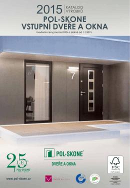 jubilejní katalog Vstupní dveře a okna 2015 - Pol