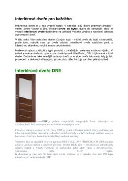 Interiérové dveře DRE
