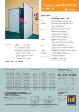 Protipožární dveře Hörmann T30-2 HZC 30 C-2