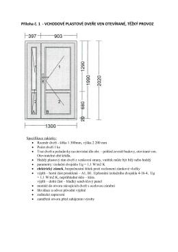 Příloha č_1 Vchodové plastové dveře ven otevírané