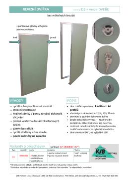 verze XXL dveře - VJB Partner s.r.o.