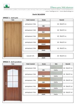 Dveře skladem - SI Technology