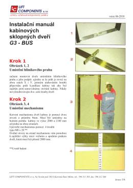 Instalační manuál kabinových sklopných dveří G3 - BUS