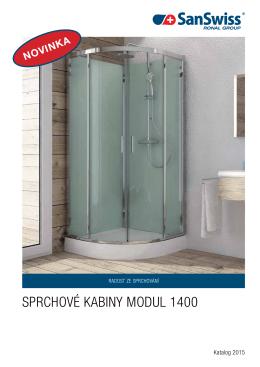 SPRCHOVÉ KABINY MODUL 1400