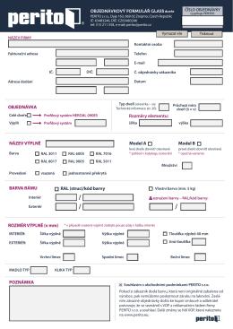 Objednávkový formulář – celé dveře Glas