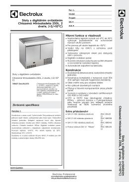 Chlazená Minisaladeta 250L, 2 dveře, (+2/+10°C)