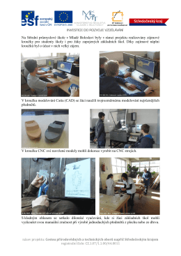 Na Střední průmyslové škole v Mladé Boleslavi byly v rámci projektu