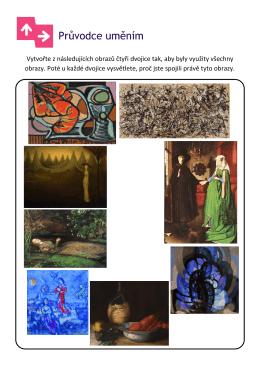 Vytvořte z následujících obrazů čtyři dvojice tak, aby byly využity