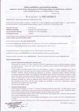 Protokol o dodržování povinností při uvádění potravin na trh