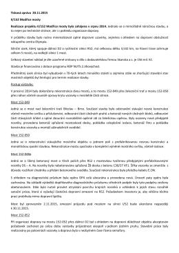 Tisková zpráva - realizace projektu II/152 Modřice mosty