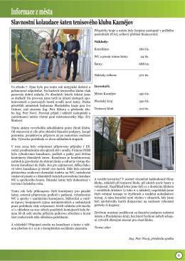 článek v Kaznějovském zpravodaji - říjen 2015