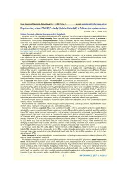 Dopis určený všem ZOJ SČF – tedy Klubům filatelistů a Odborným
